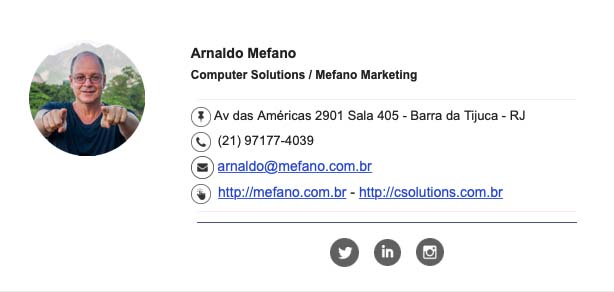 Assinatura do Email